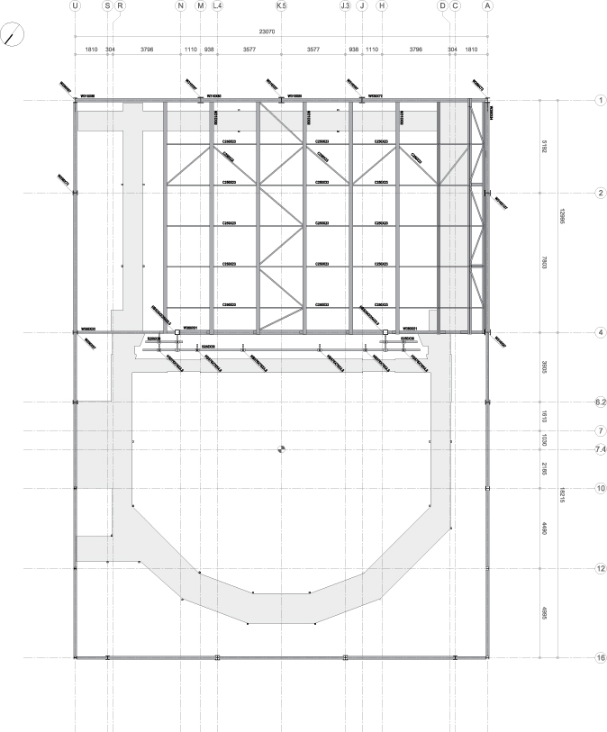_plan level 4 (fly system) : Architecture Théatre